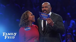 The Harveys play Fast Money! | Celebrity Family Feud