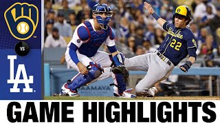 Brewers vs. Dodgers Game Highlights (10/1/21) | MLB Highlights