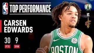 Carsen Edwards KNOCKS DOWN 8 3-POINTERS IN 3rd Q! | 2019 NBA Preseason