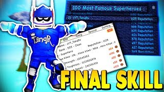 UNLOCKING EVERYTHING *FINAL SKILL* TOP LEADERBOARD ACCOUNT | Super Power Training Simulator