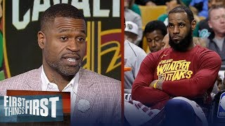 Stephen Jackson on the Boston Celtics demolishing LeBron's Cavs Game 1 | NBA | FIRST THINGS FIRST