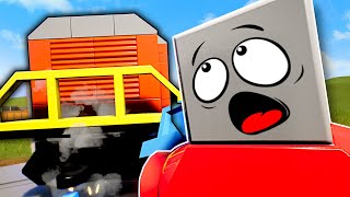 Can We Stop the Train with OB... Literally?! - Brick Rigs Multiplayer Gameplay