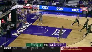 Baylor vs Kansas State Men's Basketball Highlights