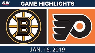 NHL Highlights | Bruins vs. Flyers - Jan. 16, 2019