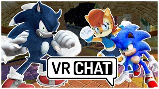 Movie Sonic & Sally Meet Sonic The Werehog! (VR Chat)