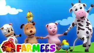 kids animal song | nursery rhymes | farm song | childrens rhymes | 3d rhymes by Farmees
