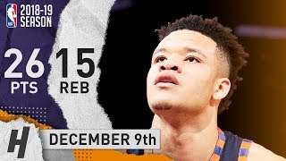 Kevin Knox Full Highlights Knicks vs Hornets 2018.12.09 - 26 Pts, 15 Rebounds!