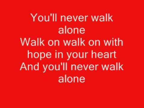 You will never walk alone liverpool fc/celtic fc with lyrics