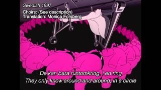 [Dumbo] Pink elephants on parade - Swedish 1972/1997