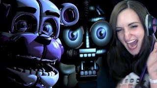 FNAF Sister Location GAMEPLAY | NIGHT 1 & 2 - BIDYBAB JUMPSCARE REACTION