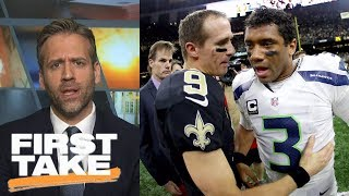 Max says Russell Wilson is better than Drew Brees | First Take | ESPN