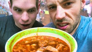 Eating PANCITA MEXICANA?! 😳Street Food in Coyoacan Mexico City   Exploring with Cody