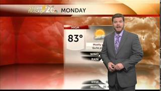 Augusta, GA weather forecast for Monday, 6/2/14