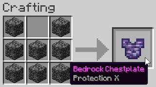 You can craft Bedrock Armor...