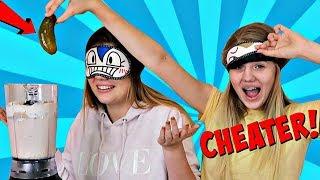 VANESSA CHEATS AGAIN! .... Blindfold Milkshake Challenge | Sis vs Sis