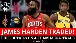 BLOCKBUSTER NBA Trade Details On James Harden To Nets, Victor Oladipo To Rockets, Caris LeVert Moved