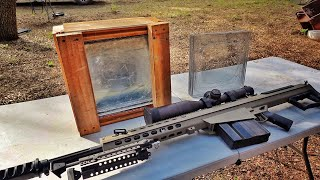 Can DIY Bullet Proof Glass Stop a Barrett 50cal?!?