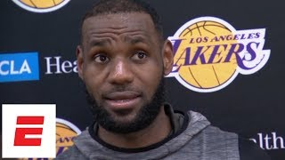 LeBron James wants Lakers to improve on 'everything' | NBA Interviews