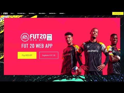 DE FIFA 20 WEB APP!!