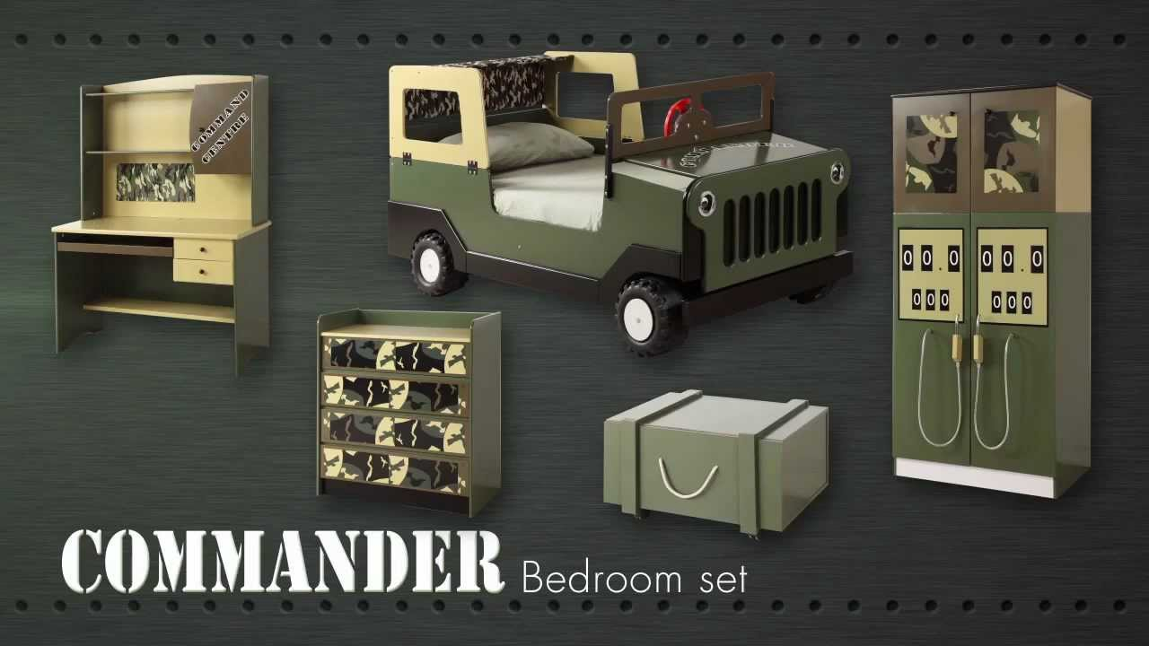 Army Commando Theme Bed Bedroom Furniture For Kids