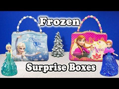 FROZEN Disney Elsa & Anna Frozen Surprise Boxes a Frozen Surprise Video