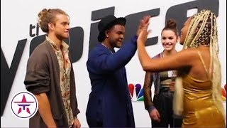 The Voice: Reagan Strange, DeAndre Nico & Tyke James REVEAL What Adam Levine Is REALLY Like! 👀