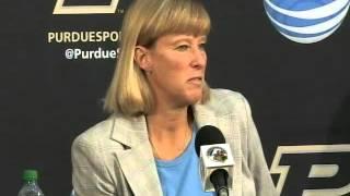 Purdue Basketball Media Day 2012 - Coach Sharon Versyp