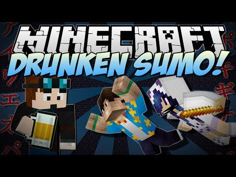 Minecraft   DRUNKEN SUMO! (Nausea And Knockback Sumotori!)   NEW Mini-Game - Smashpipe Games