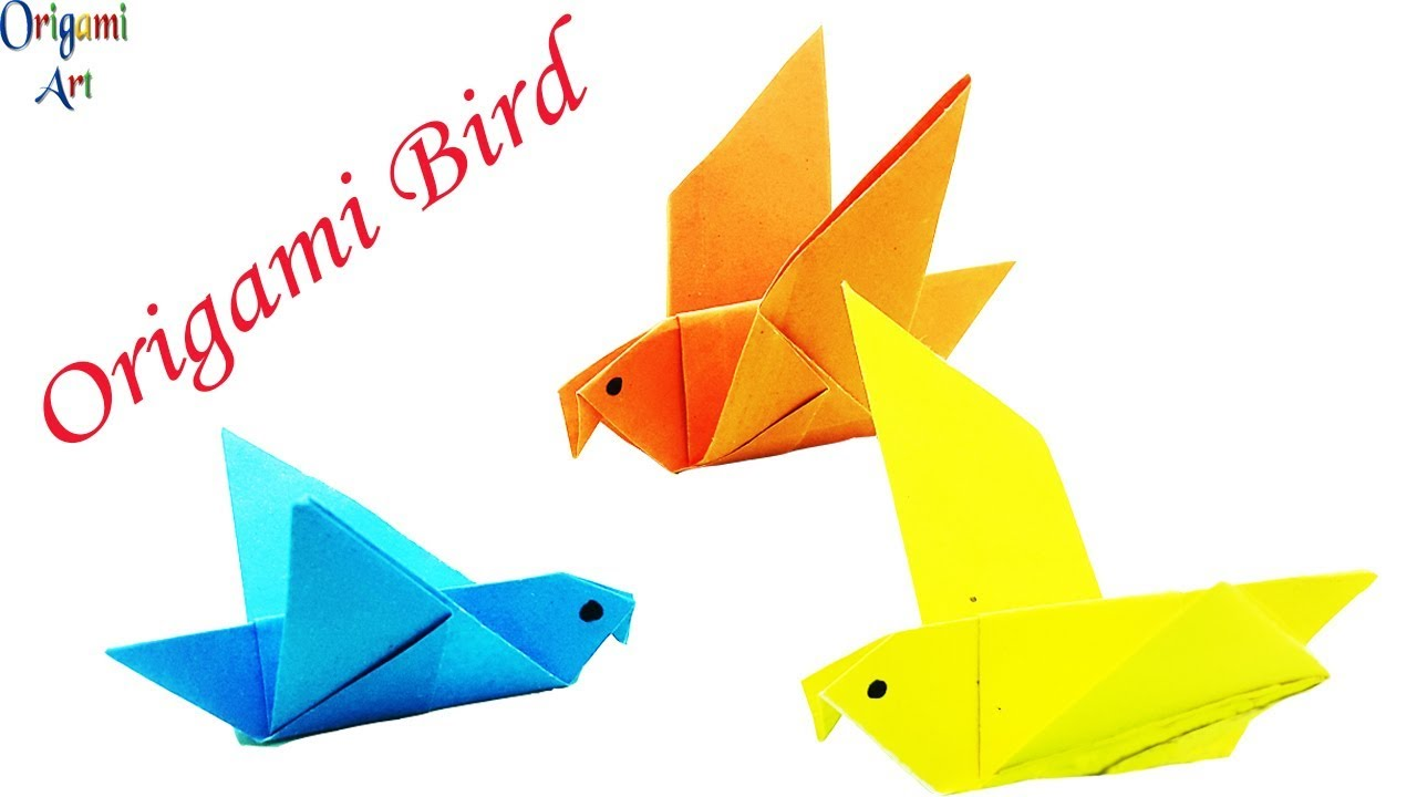 How to Make an Origami Flapping Bird - Easy Steps | Paper Bird ... | 720x1280