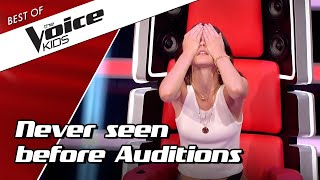 TOP 10 | NEVER SEEN BEFORE Blind Auditions in The Voice Kids