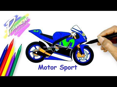 Motor Sport Cara Menggambar Dan Mewarnai Gambar Sepeda Motor Untuk