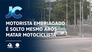 Motorista embriagado é solto mesmo após matar motociclista