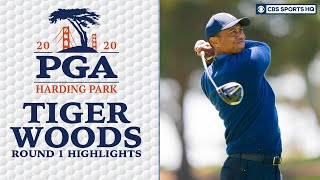 Tiger Woods Highlights: Early start brings success | 2020 PGA Championship - Round 1 | CBS Sports HQ