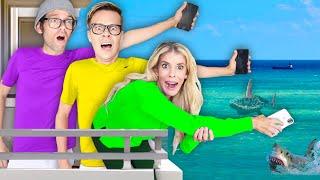 Last to Drop iPhone Wins $10,000 Challenge in Hawaii! **Worst Idea** Matt and Rebecca