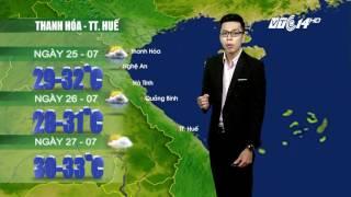 (VTC14)_ Thời tiết 12h ngày 24/07/2017