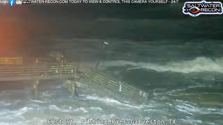 61st Street pier washes away ahead of Tropical Storm Beta