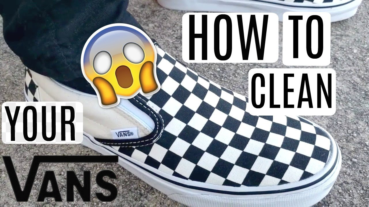 How To Clean Vans Shoes Black