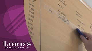 Chris Woakes & Jimmy Anderson on the Honours Boards | Honours Board Legends