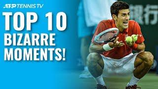 Top 10 Bizarre ATP Tennis Moments!