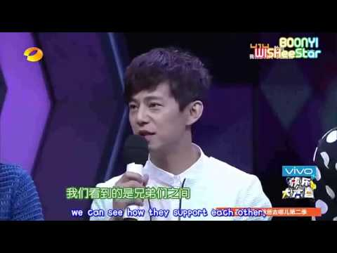 Reactions of EXO when Kris left..(Happy Camp)