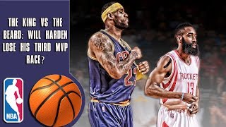 The King vs The Beard: Will James Harden lose his third MVP race?