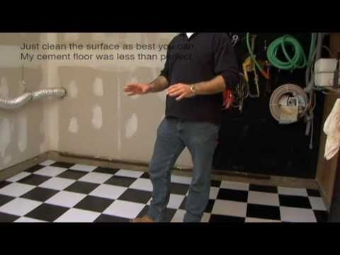 Installing Vinyl Floor Tile On Cement Garage Floor