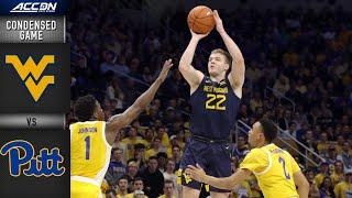 West Virginia vs. Pittsburgh Condensed Game | ACC Men's Basketball 2019-20