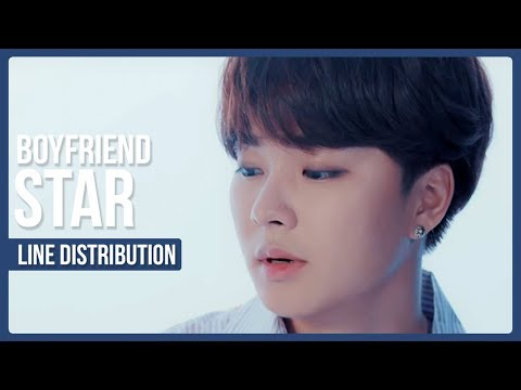 BOYFRIEND - STAR Line Distribution (Color Coded)