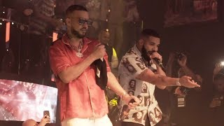 Drake and French Montana performance at LIV