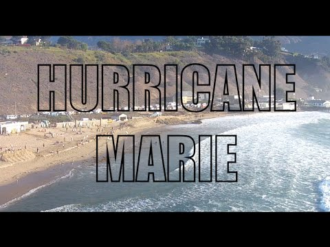 Hurricane Marie by Drone at Surfrider Beach, Malibu 08/27/14