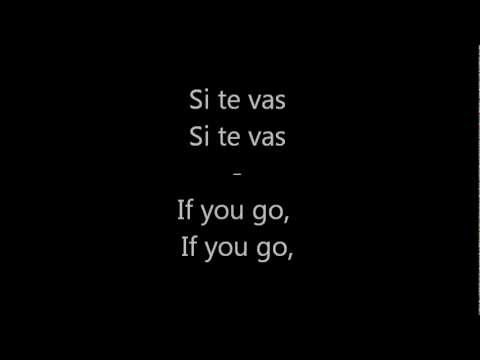 Shakira-Si Te Vas (if you go) with english lyrics