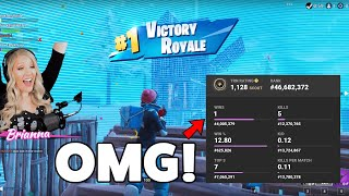 CARRYING MY WIFE TO HER FIRST FORTNITE BATTLE ROYALE WIN!