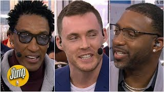Scottie Pippen and Tracy McGrady give Pat Connaughton Dunk Contest advice | The Jump