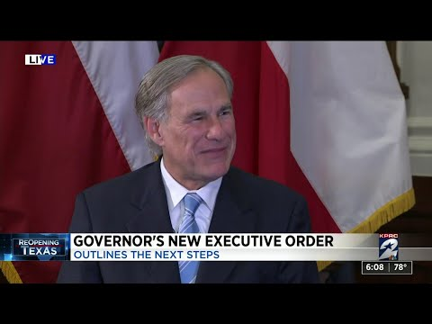 Gov. Abbott speaks to KPRC 2 about new executive order to reopen Texas